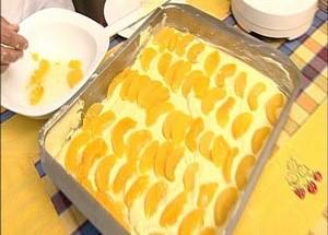Κέικ με ροδάκινα