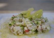 Λαυράκι μαριναρισμένο με φρέσκα λαχανικά
