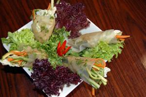 Ρολά από φύλλα ρυζιού με λαχανικά