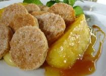 Καραμελωμένος ανανάς με κρέμα και σφολιάτα