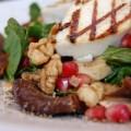 Σαλάτα με σπανάκι και μανούρι