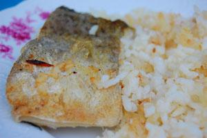 Μπακαλιάρος με ρύζι