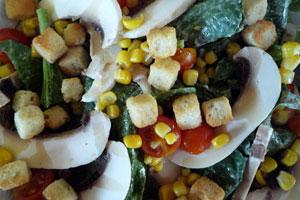 Φρέσκο σπανάκι με κρέμα τυριού