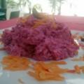 Παντζαροσαλάτα με άσπρο και κόκκινο λάχανο