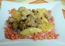 Ψαρονέφρι με σάλτσα μουστάρδας και ανανά