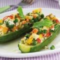 Γεμιστά κολοκυθάκια με ανθότυρο και ανάμικτα λαχανικά
