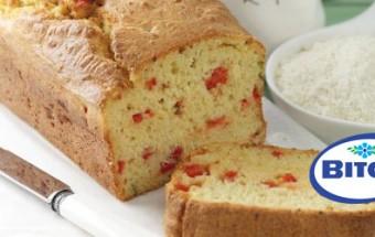 Αλμυρό κέικ με μυζήθρα και πιπεριά Φλωρίνης