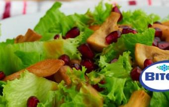 Σαλάτα με μανιτάρια και κοτόπουλο ρόδι