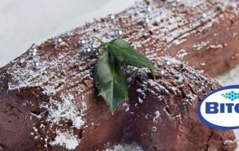 Σοκολατένιος κορμός με πουρέ κάστανο