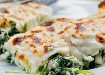 Κανελλόνια με σπανάκι και τυρί
