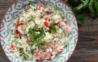 Σαλάτα με ρύζι και γιαούρτι