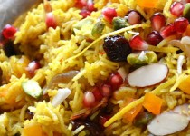 Πέρσικo ρύζι ή αλλιώς ρύζι με σαφράν, κάρδαμο, μάραθο και ρόδι