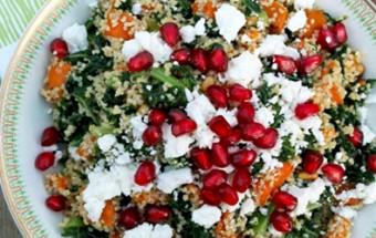Χειμωνιάτικη σαλάτα με κους κους και κουκουνάρι