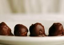 Χριστουγεννιάτικα σοκολατάκια με παγωτό και επικάλυψη σοκολάτας