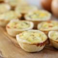 Quiche lorraine με γέμιση λαχανικών και τυριού