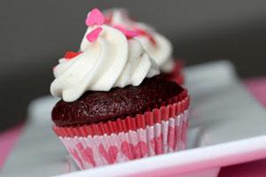 Κόκκινα σοκολατένια cupcakes του πάθους