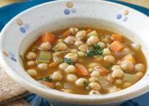 Σούπα με ρεβύθια και κους κους
