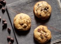 Μπισκότα βανίλιας με κεράσια και κομματάκια σοκολάτας