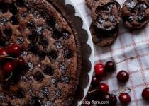 Τάρτα με σοκολάτα, αμύγδαλα και κεράσια