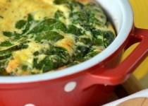 Φριτάττα με αυγά, σπανάκι και φέτα